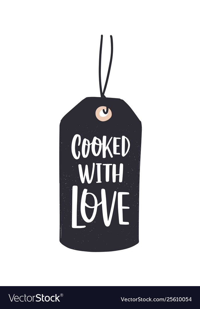Cooked With Love Inscription Written With Cursive Vector Image Read ripples of love with english scans. vectorstock