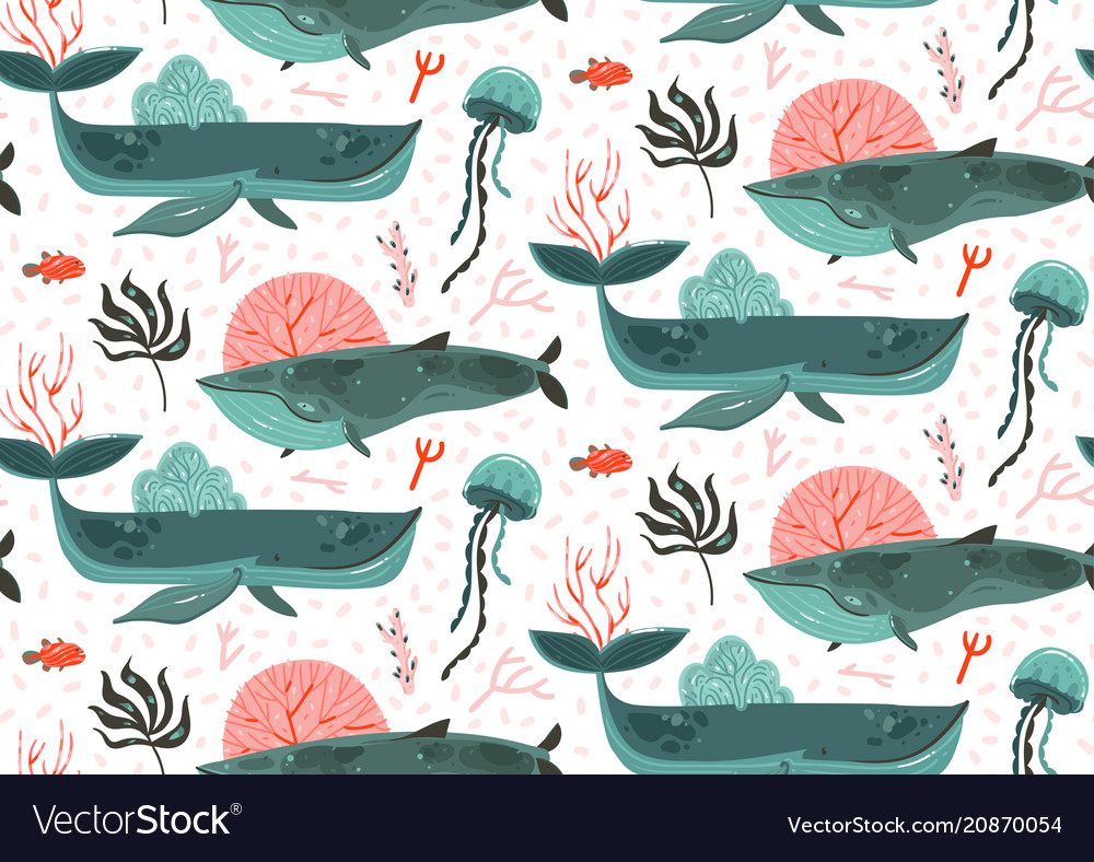 Hand drawn abstract cartoon graphic summer vector image