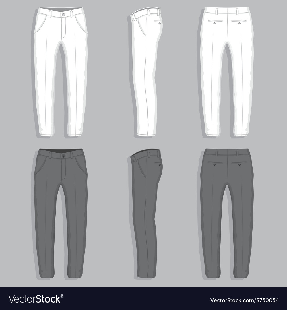 Mans fashion trousers vector image