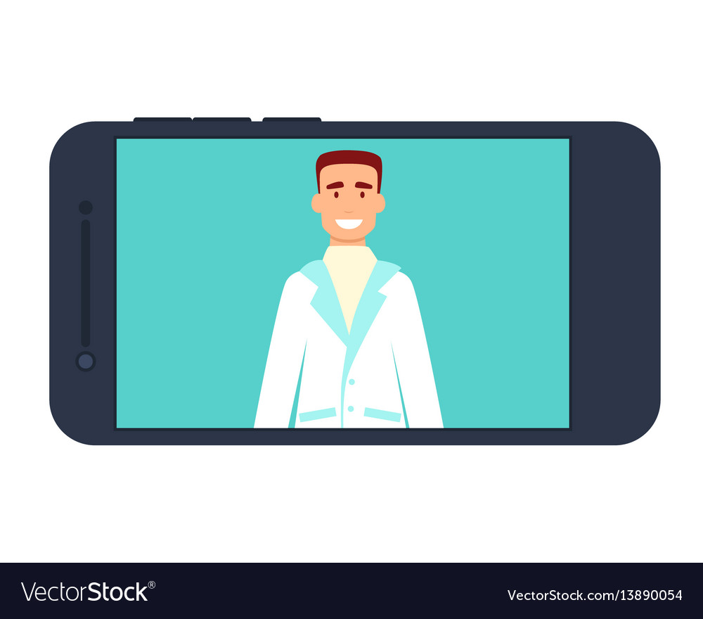 Medical consultation on internet vector image