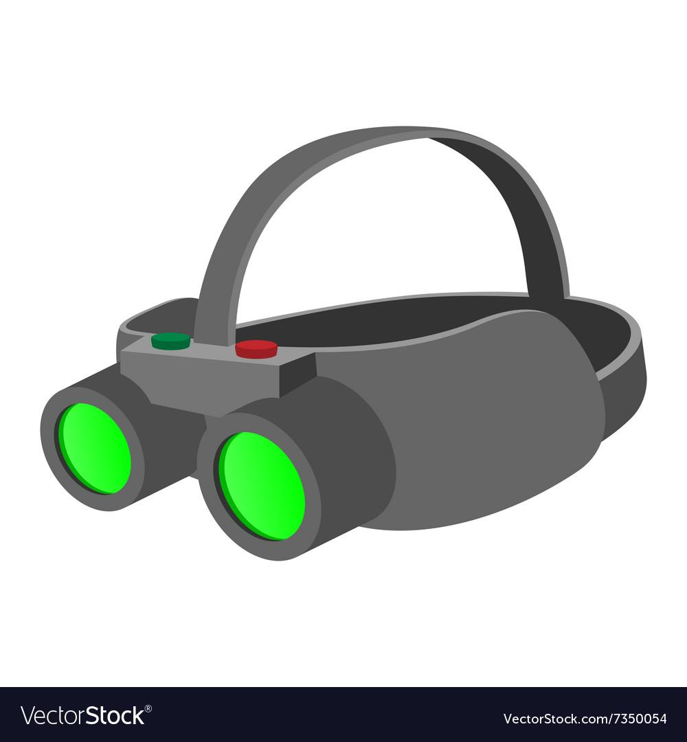 Night vision device cartoon icon