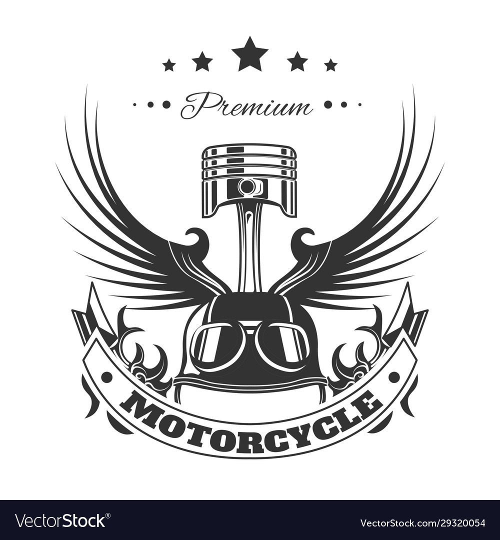 Racing motorcycle club bikers emblem t-shirt