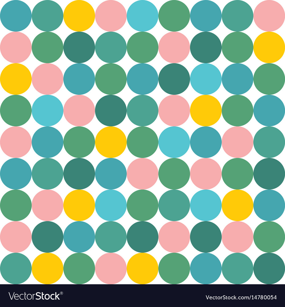 Tile pattern with pink yellow and green polka dot