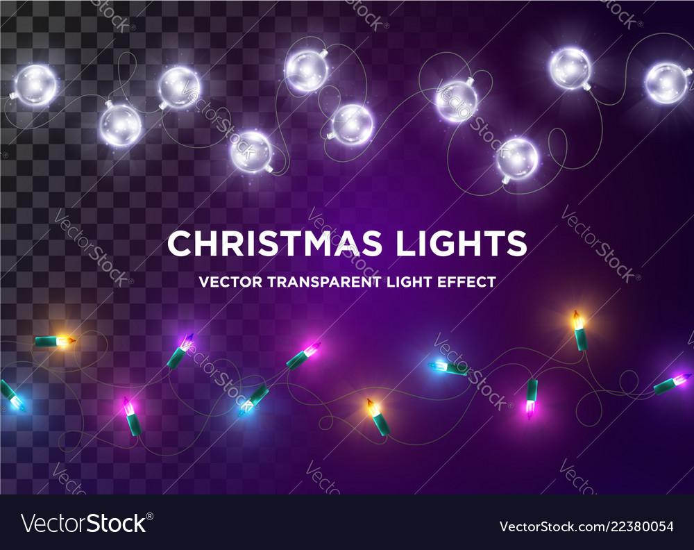 Vintage christmas lights set multi