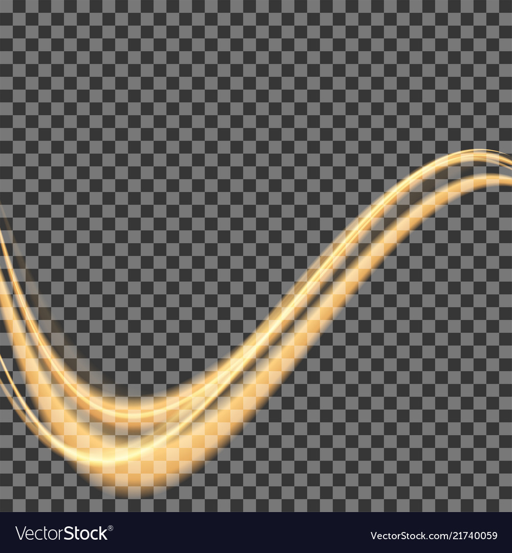 Abstract shiny color gold wave design