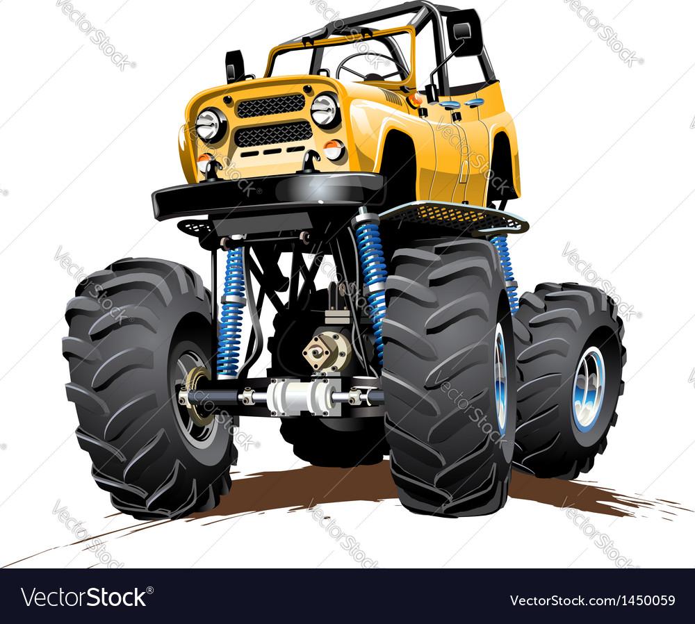 Cartoon Monster Truck One-click Repaint Royalty Free Vector