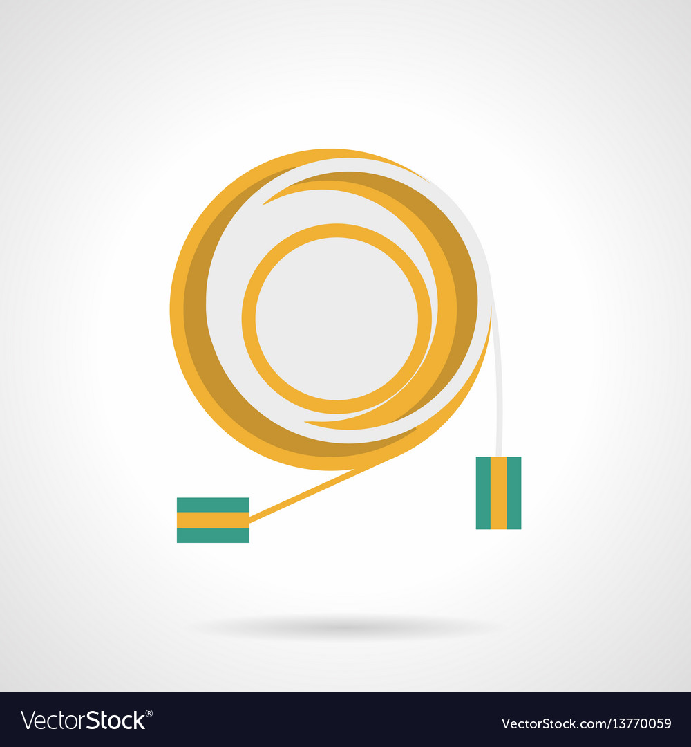 Connection cord flat color icon vector image