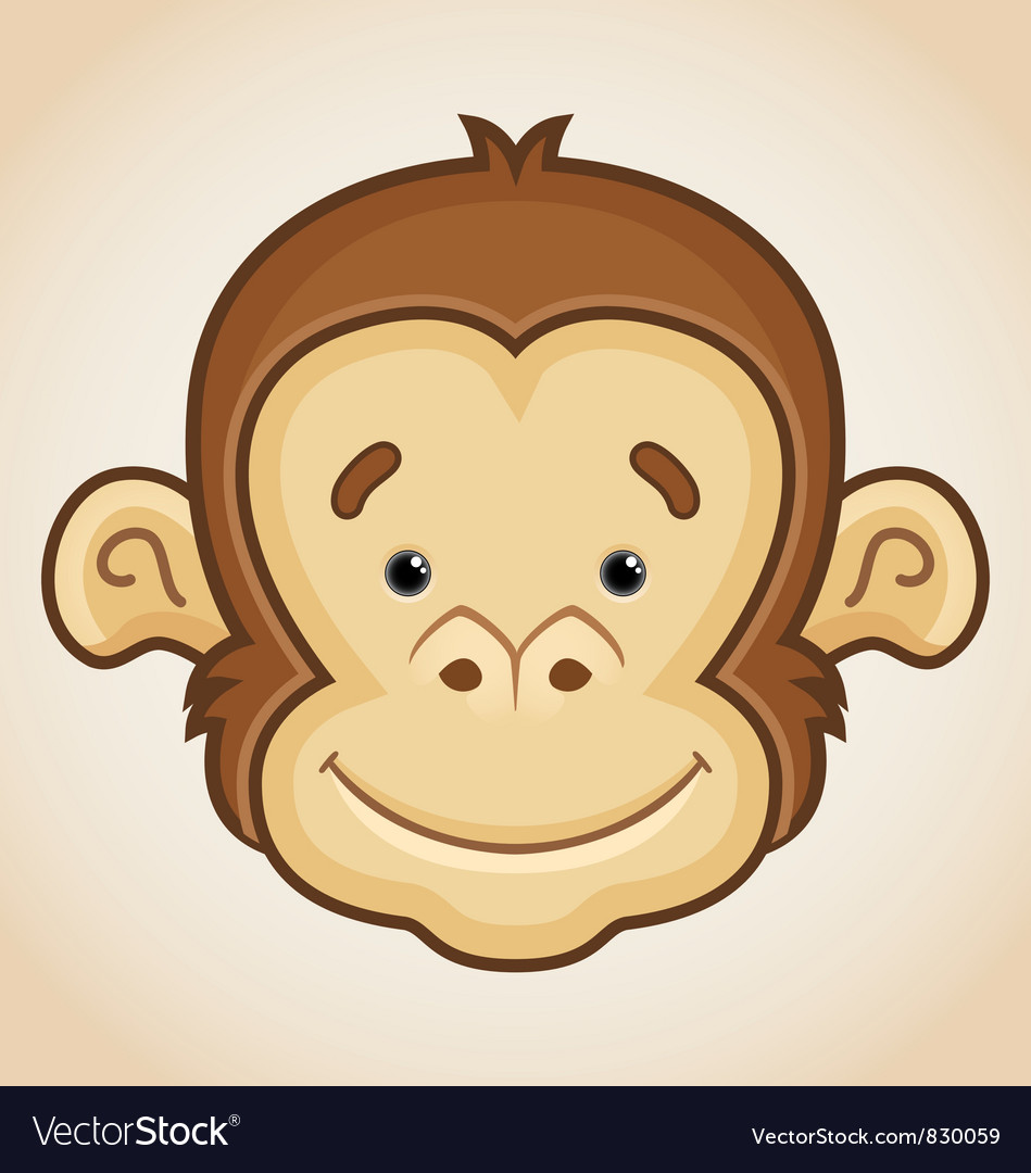 how to draw a cute monkey face
