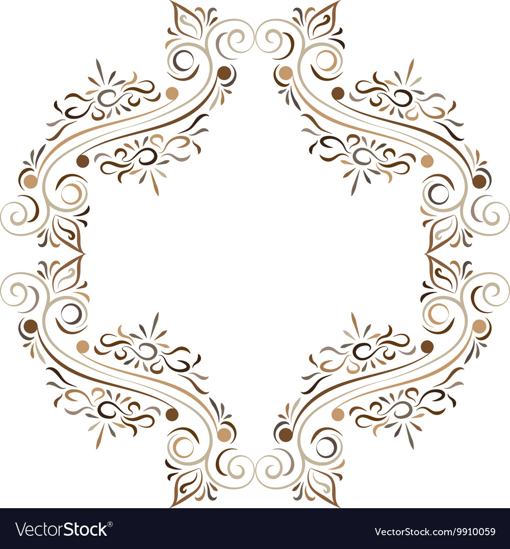 Doodle color abstract flower ornament frame vector image