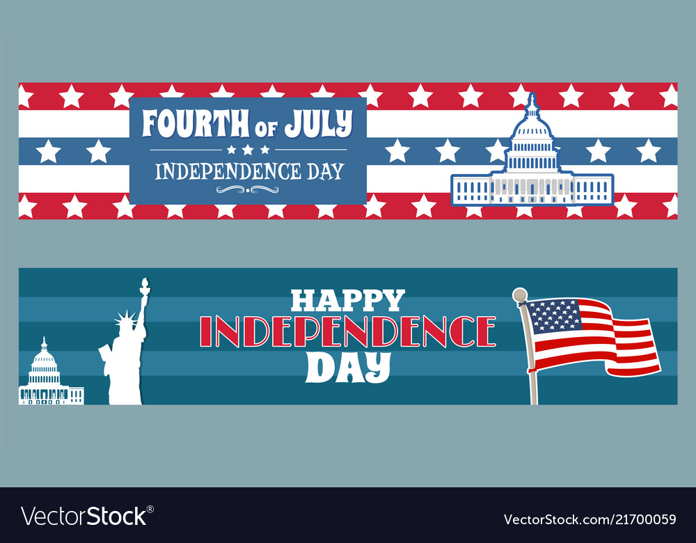 Fourth of july independence day patriotic posters