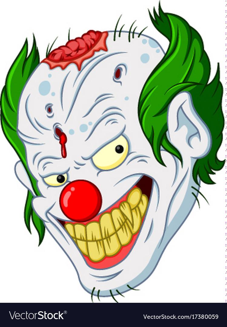 Halloween clown face cartoon