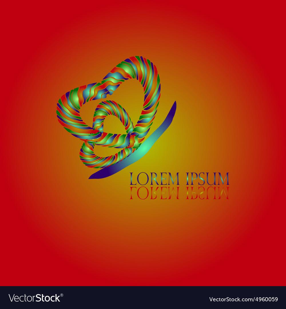 Heart Butterfly Logo vector image