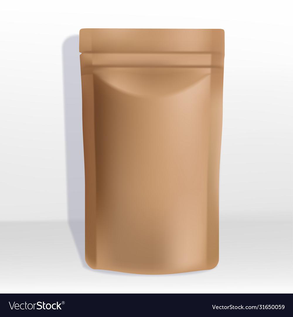Kraft paper zipper pouch or sachet