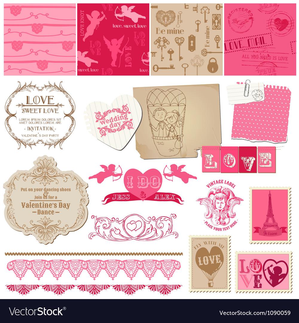 Scrapbook Love Set of design elements