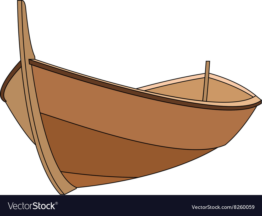 wooden boat 380x400 royalty free vector image vectorstock rh vectorstock com boat vector icon boat vector icon