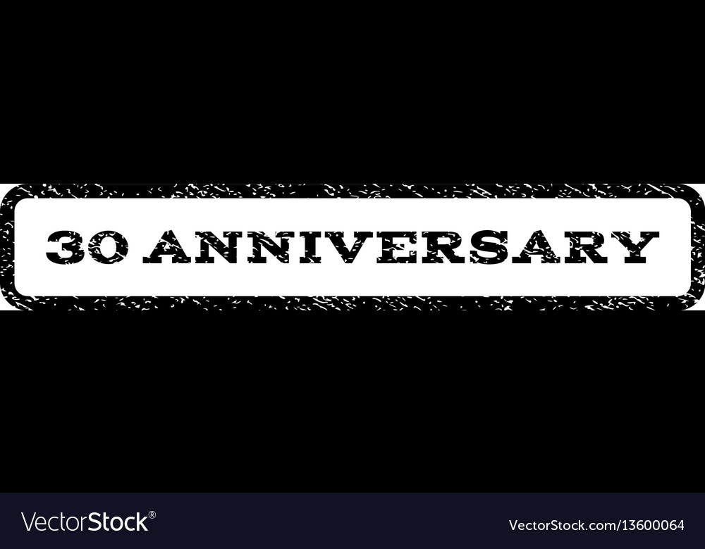 30 anniversary watermark stamp vector image
