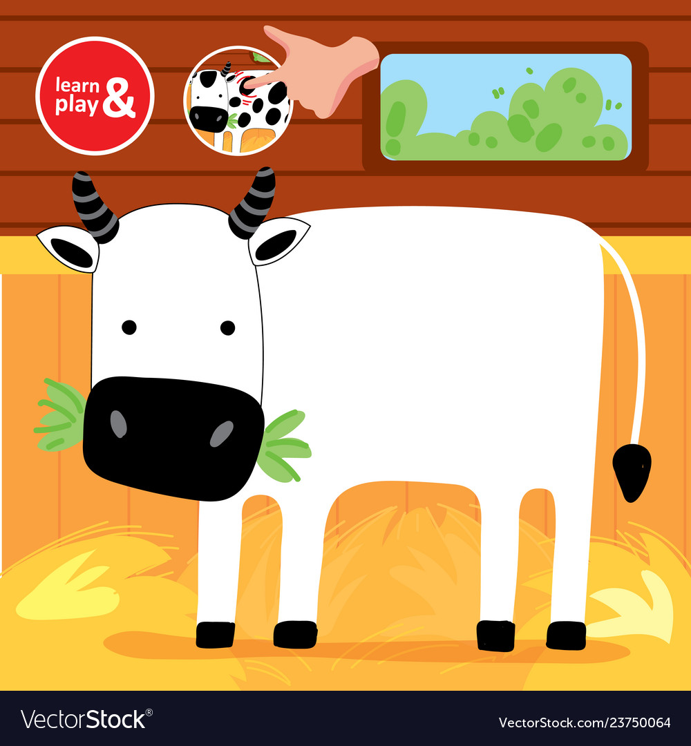 Finger drawing game cow printable worksheet