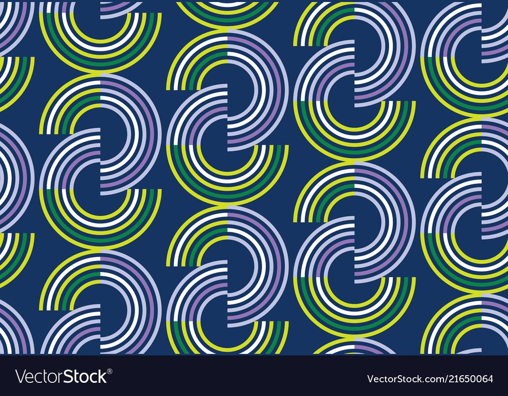 Round vintage geometric seamless pattern