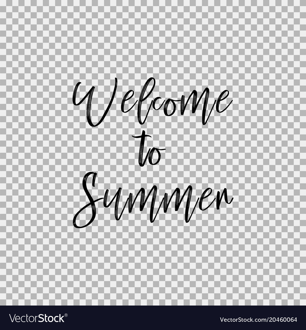 Welcome to summer transparent background