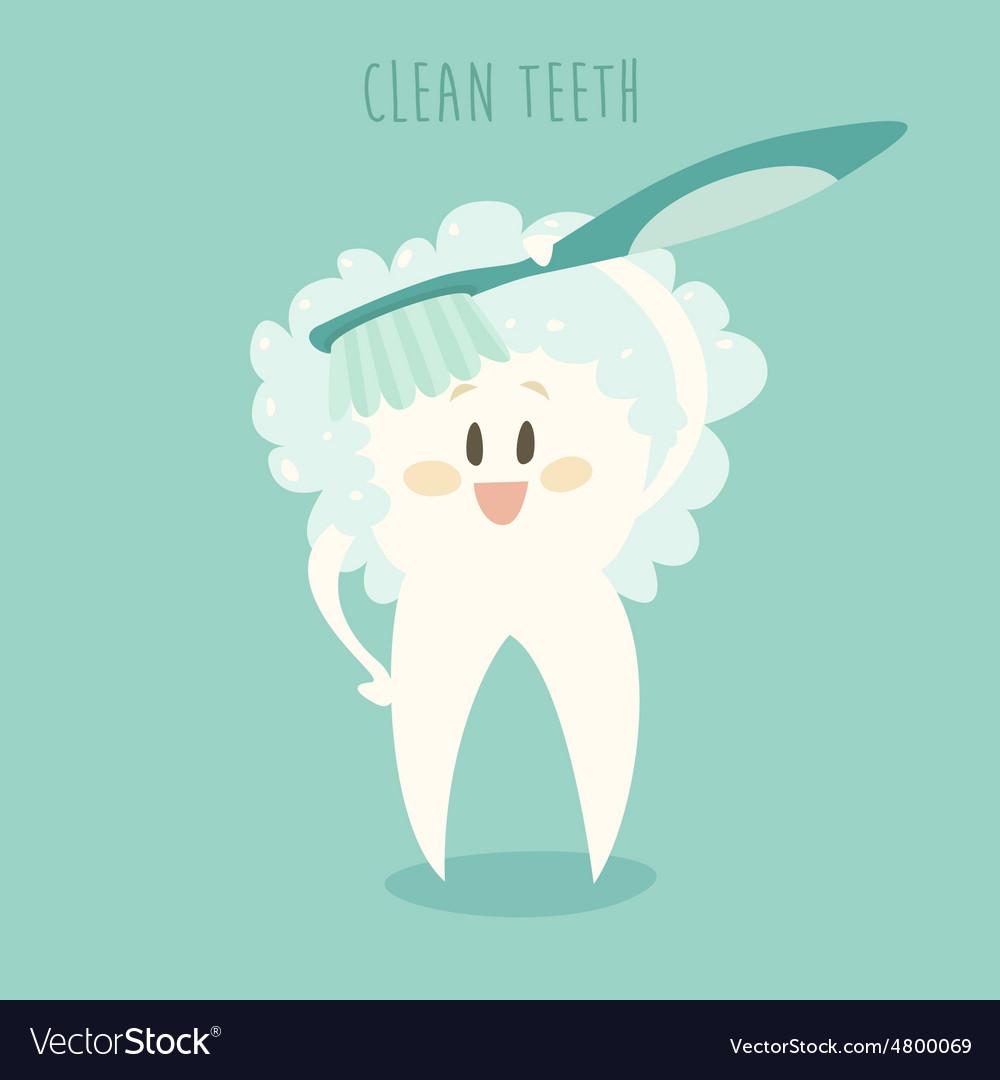Clean the Healthy White Teeth