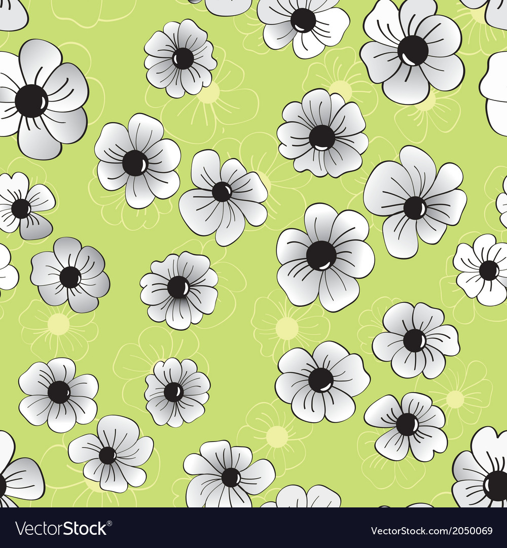 Flower seamless pattern floral background