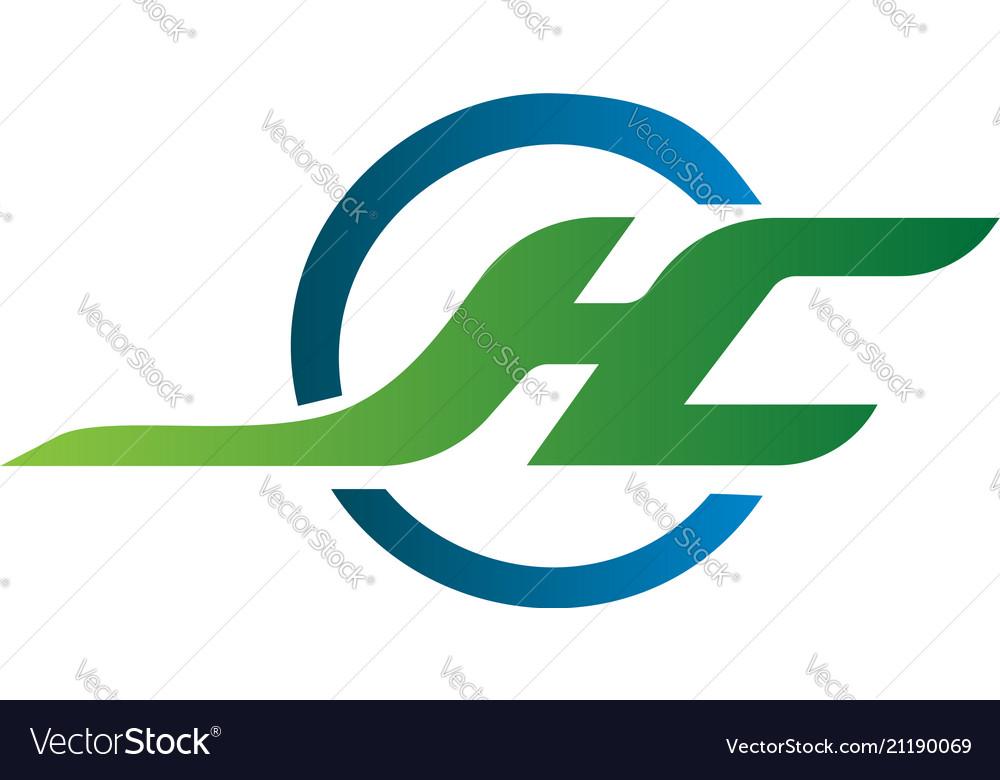 Letter j h c logo design concept template