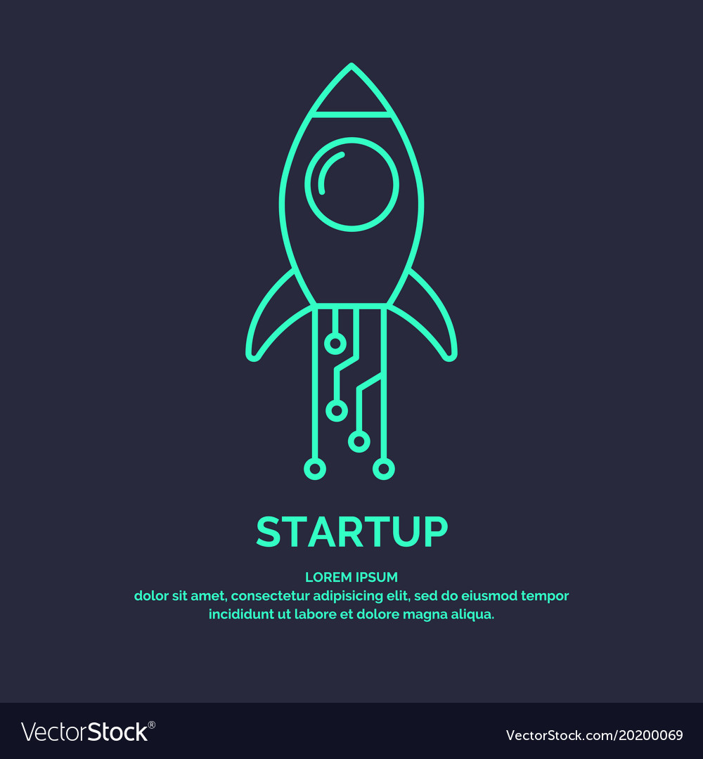 Linear emblem business idea startup