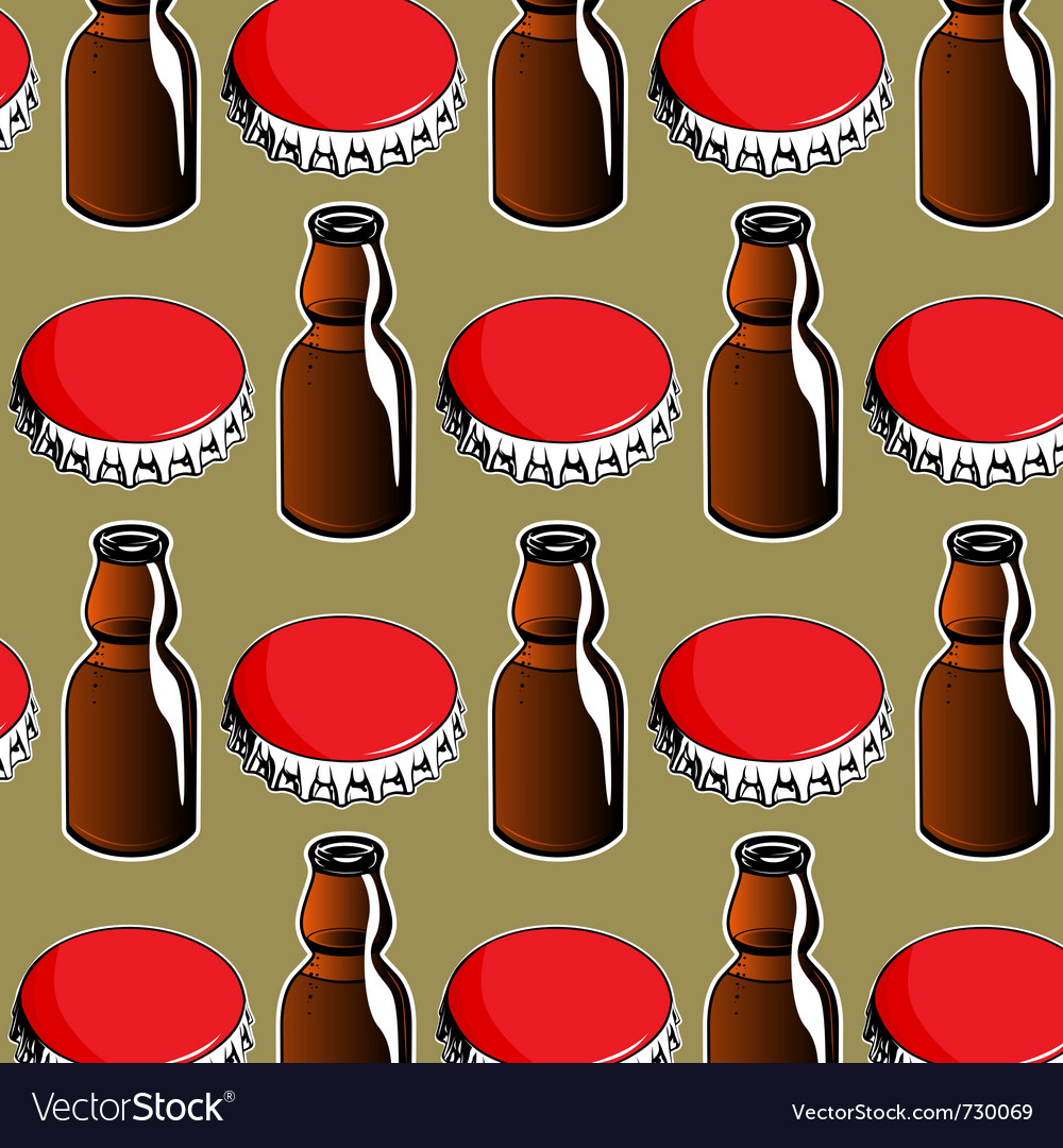Steel red cover and glass bottle background