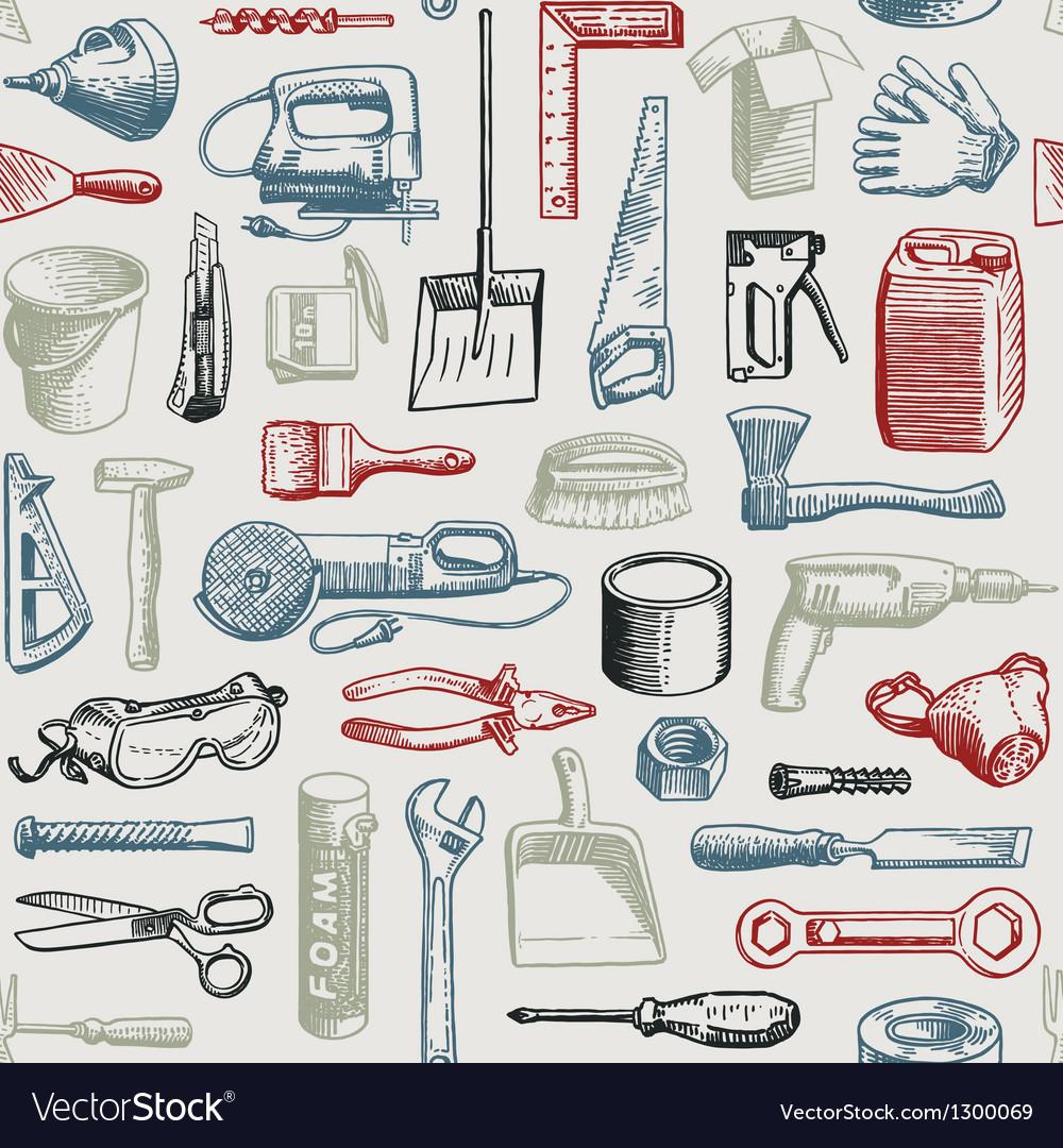Tools Instruments Seamless Pattern