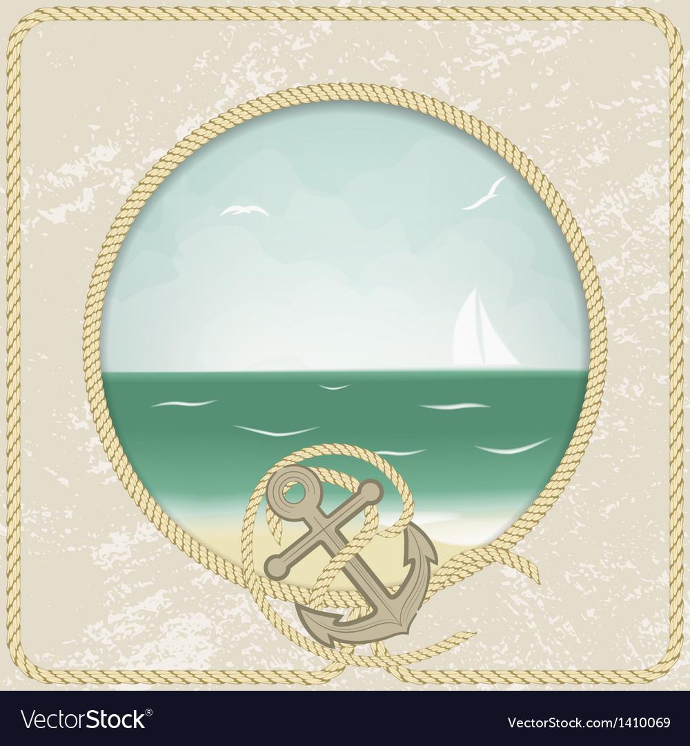 Vintage sea post card