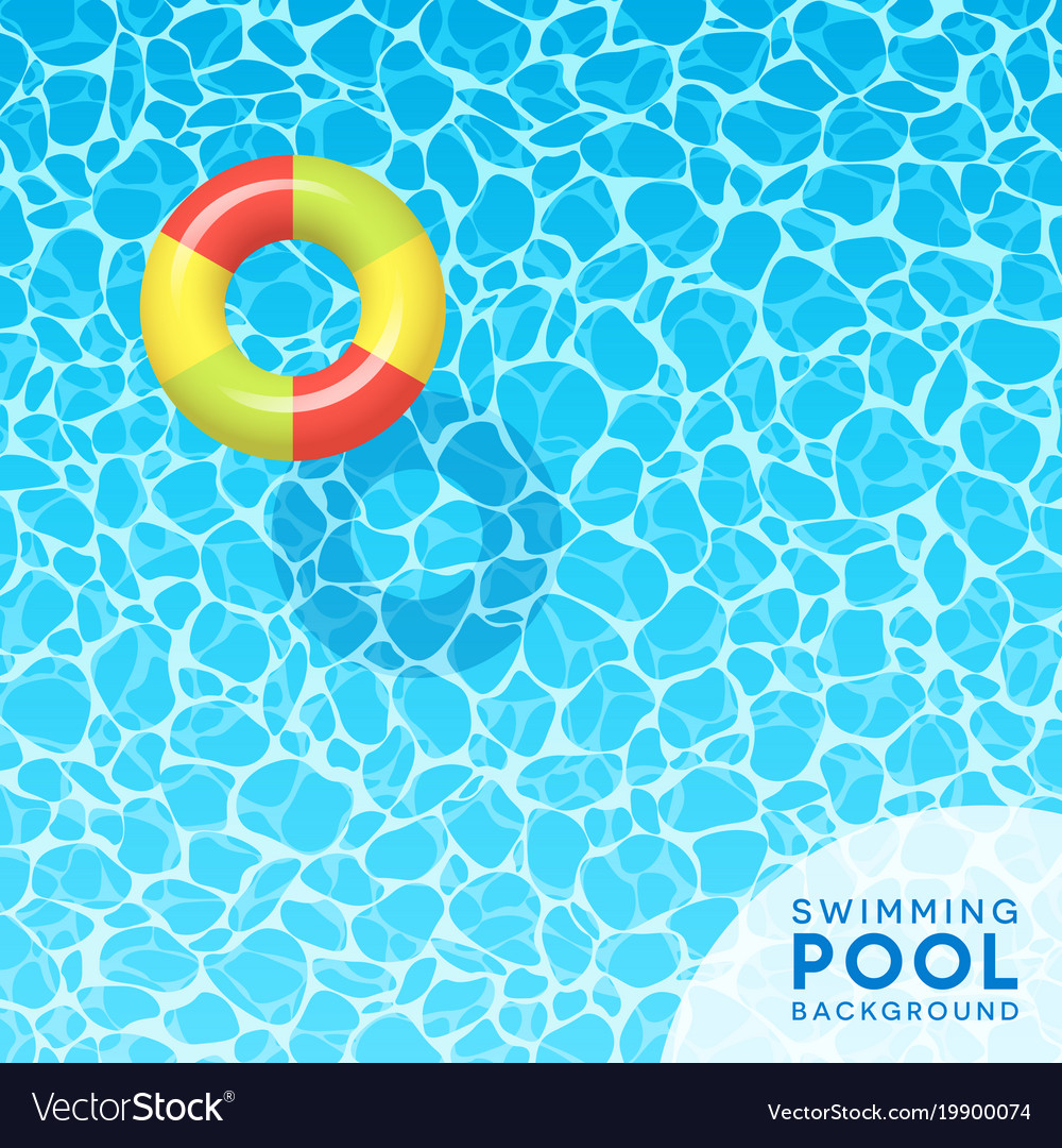 Clear blue swimming pool water background