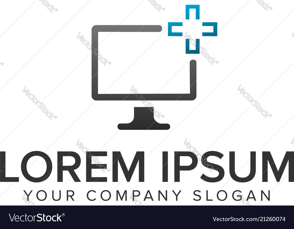 Computeer screen servisce logo