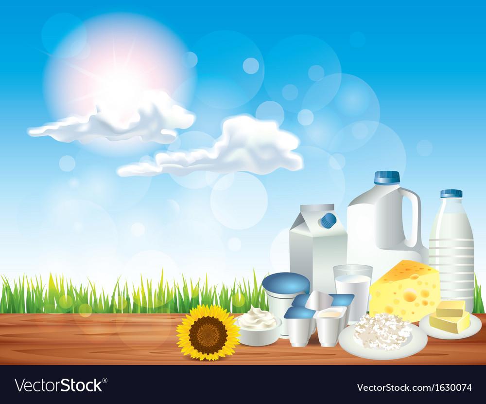 Dairy sunny background