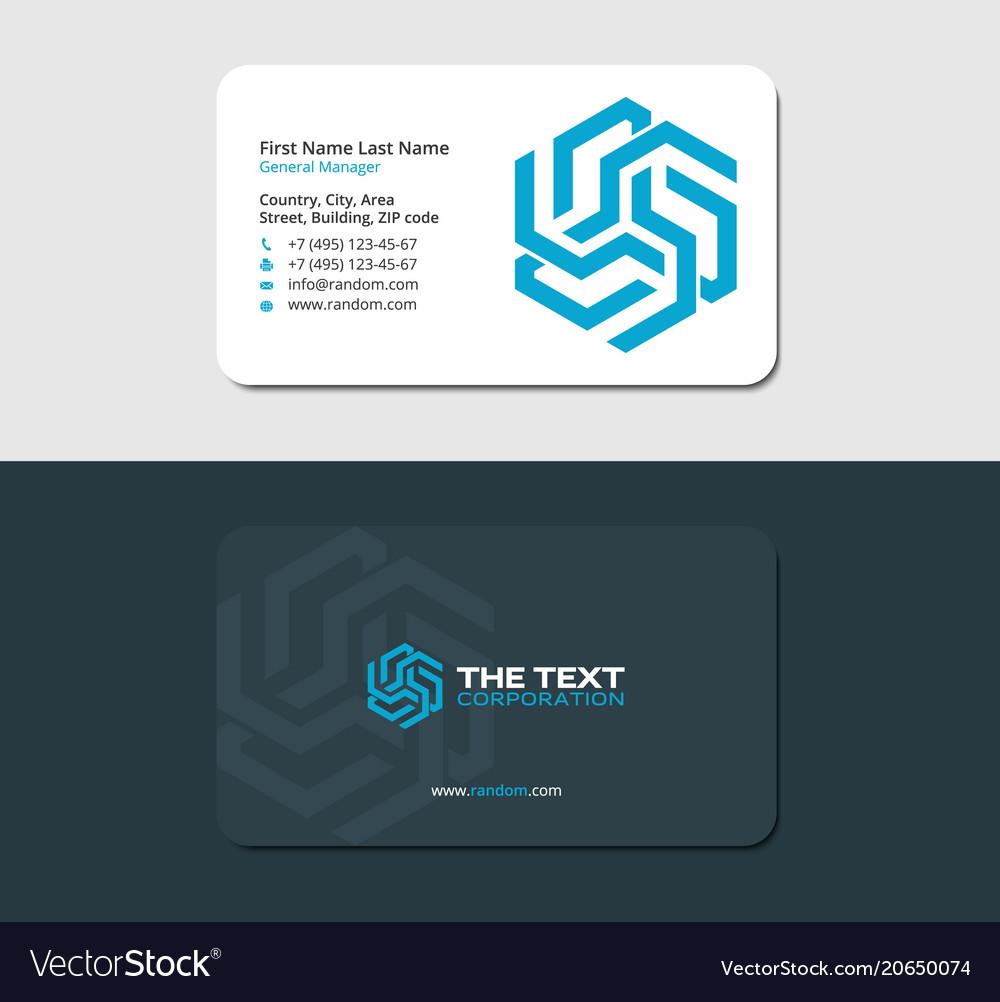 Futuristic business card blue color royalty free vector futuristic business card blue color vector image colourmoves