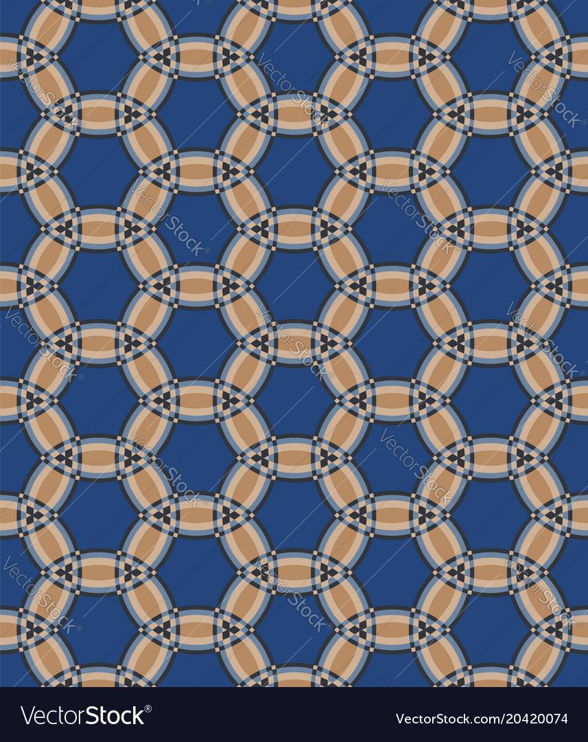 Geometric pattern in blue
