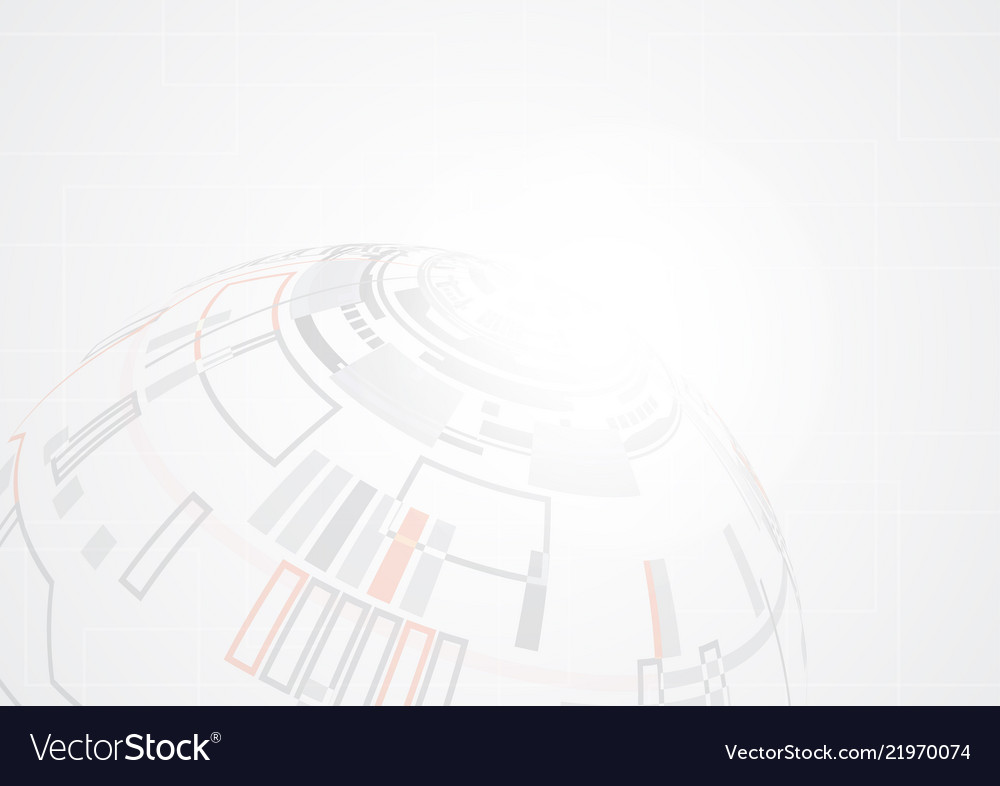 Grey abstract geometric technology shape of