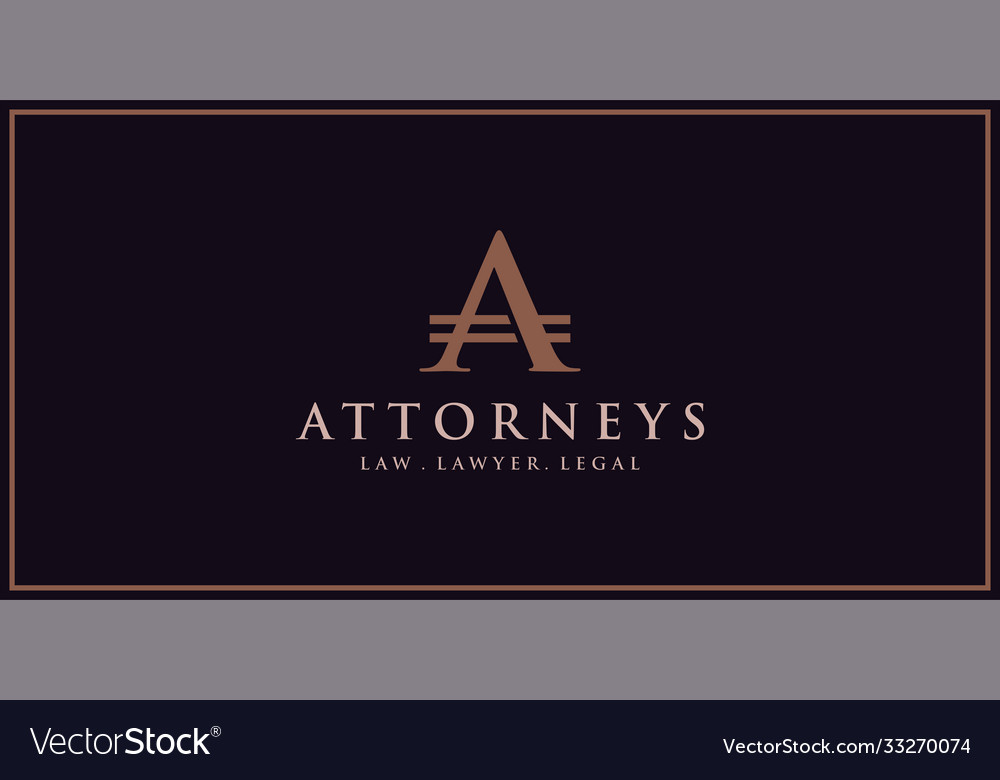 Logo letter a for law and lawyers