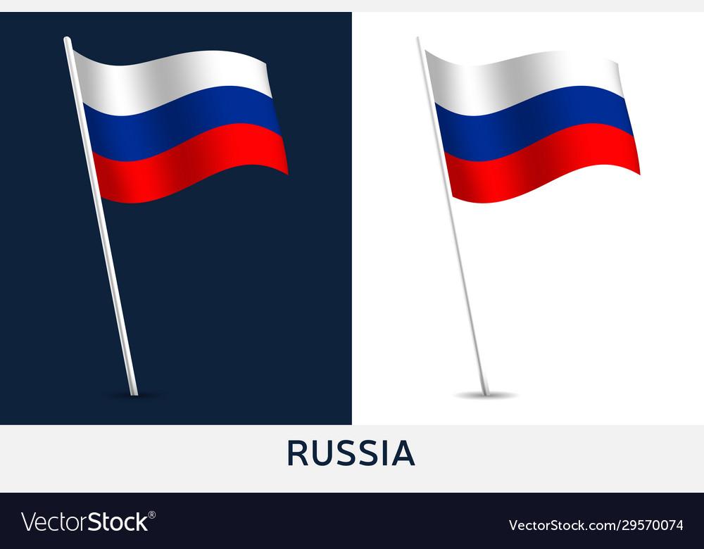 Russia flag waving national flag