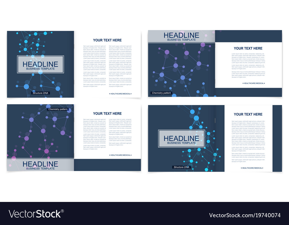Scientific templates square brochure magazine
