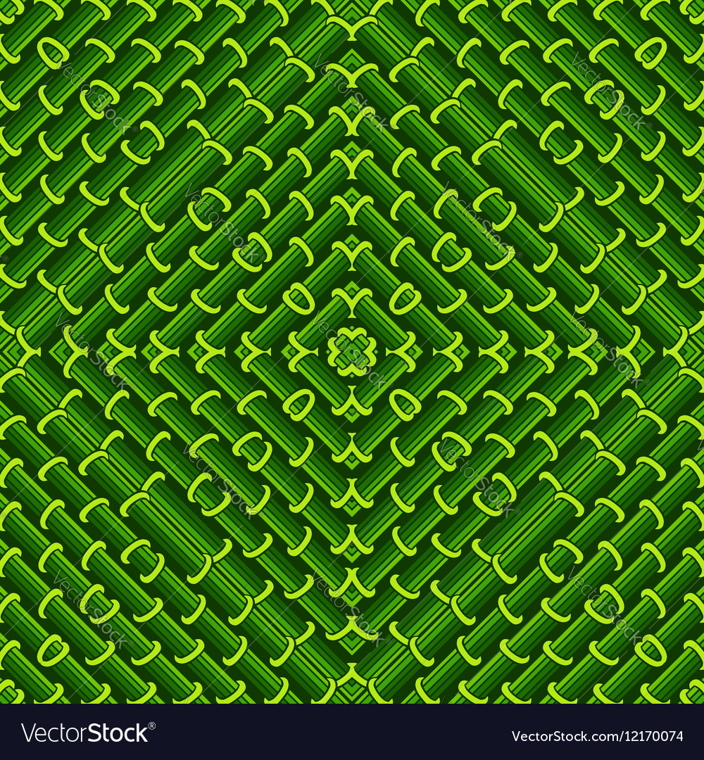 Seamless geometric pattern in green ecological