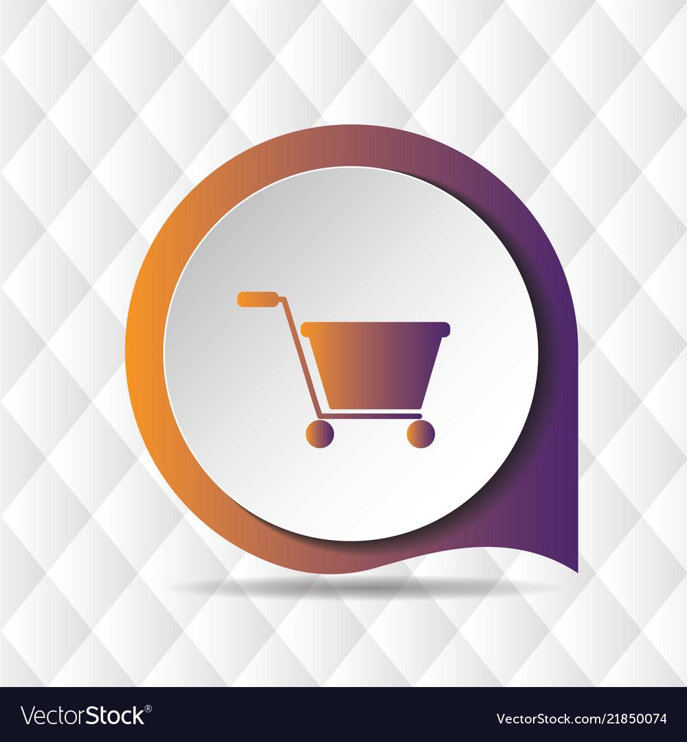 Shopping cart icon geometric background ima