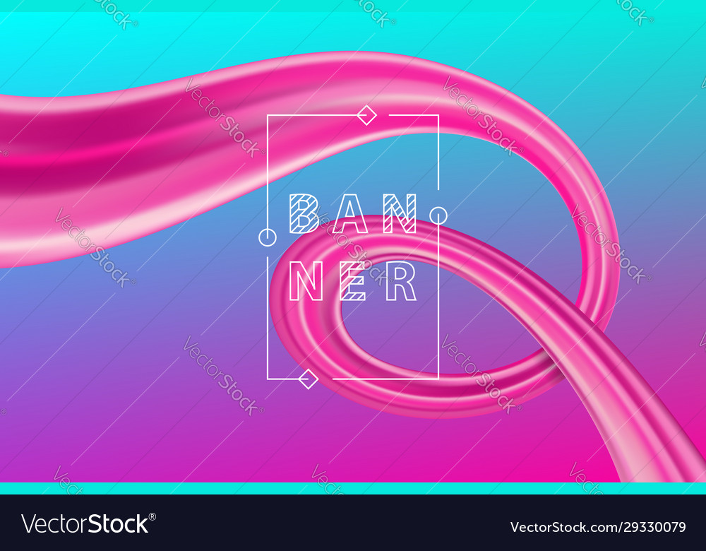Abstract liquid flow design bright color motion