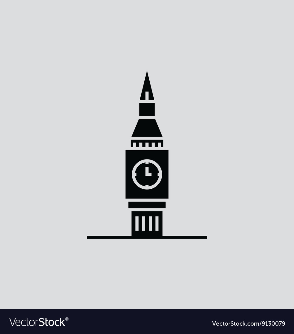 big ben royalty free vector image vectorstock rh vectorstock com big ben vector free download big ben vector silhouette