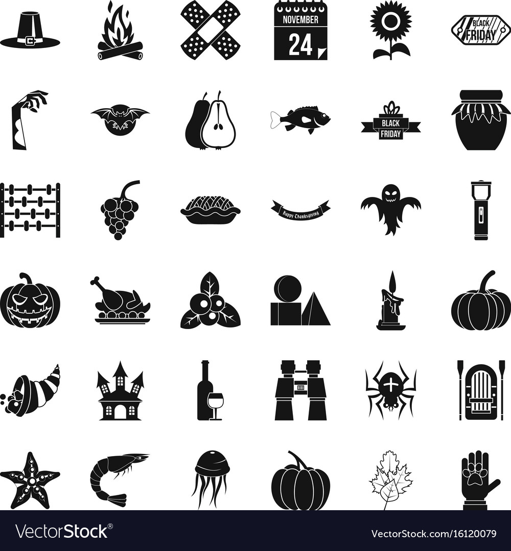 Halloween icons set simple style