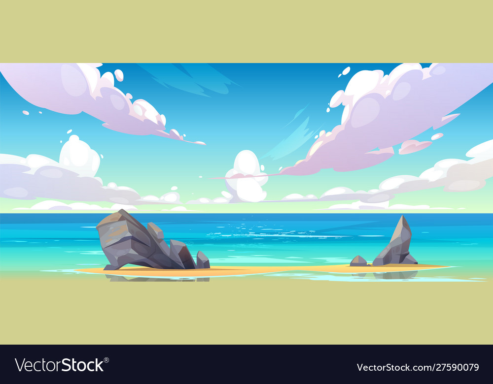 Ocean or sea beach nature tranquil landscape