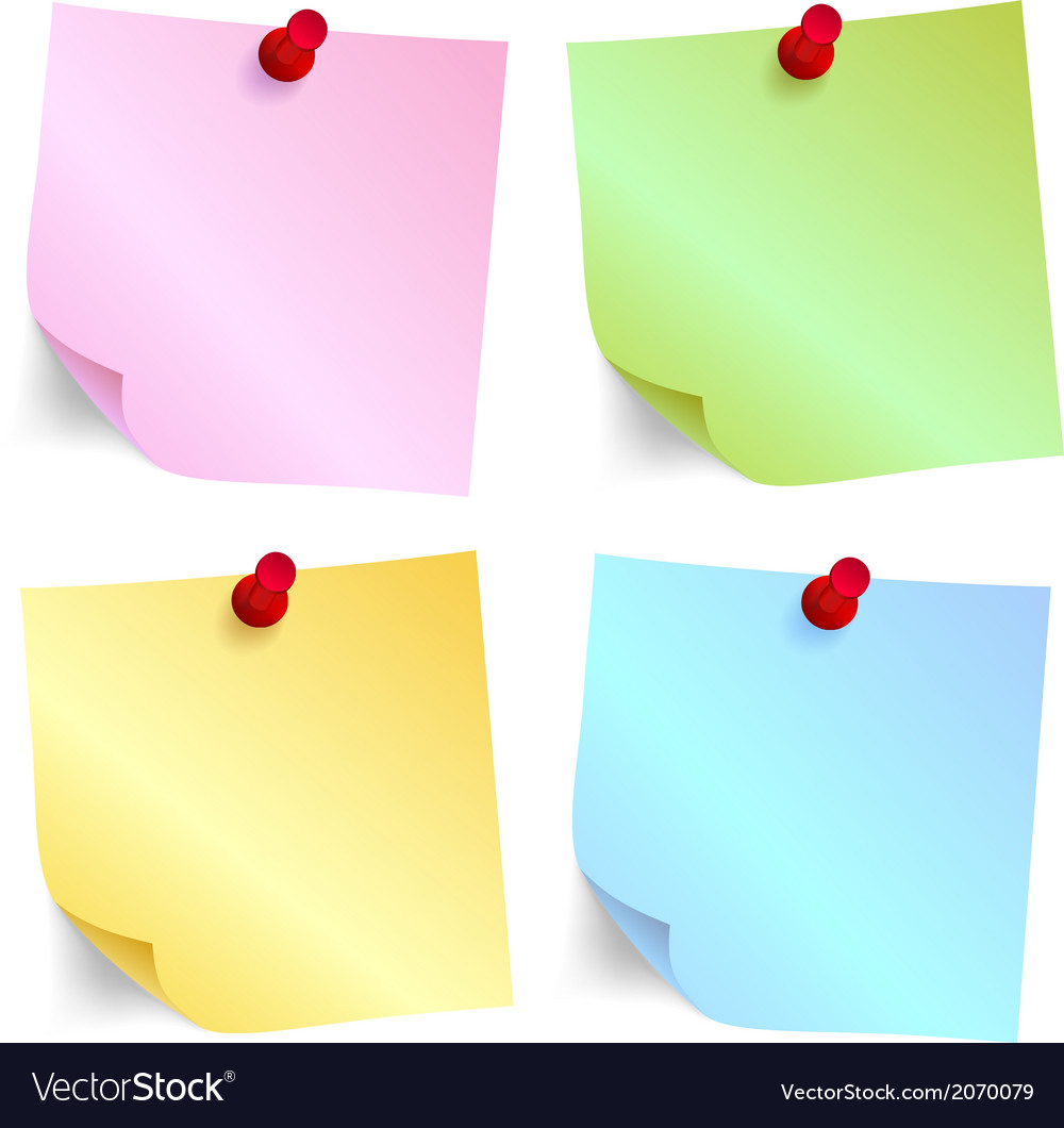 Paper note set vector image