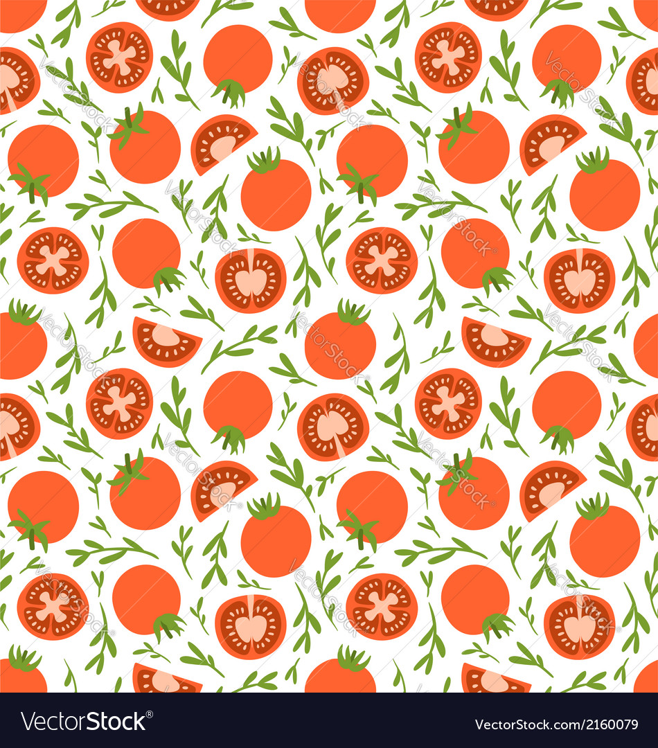 Red tomatoes pattern