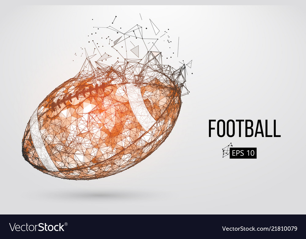 Silhouette of a footballl ball