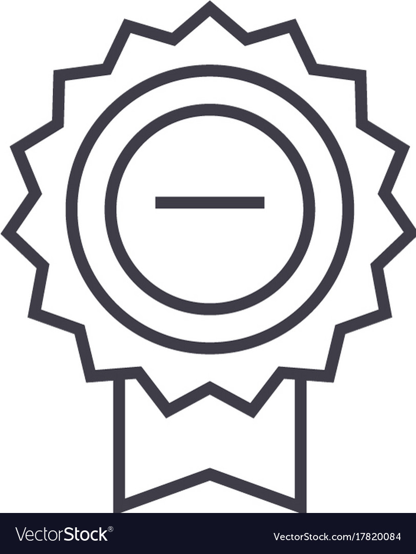 Award sign line icon sign on vector image