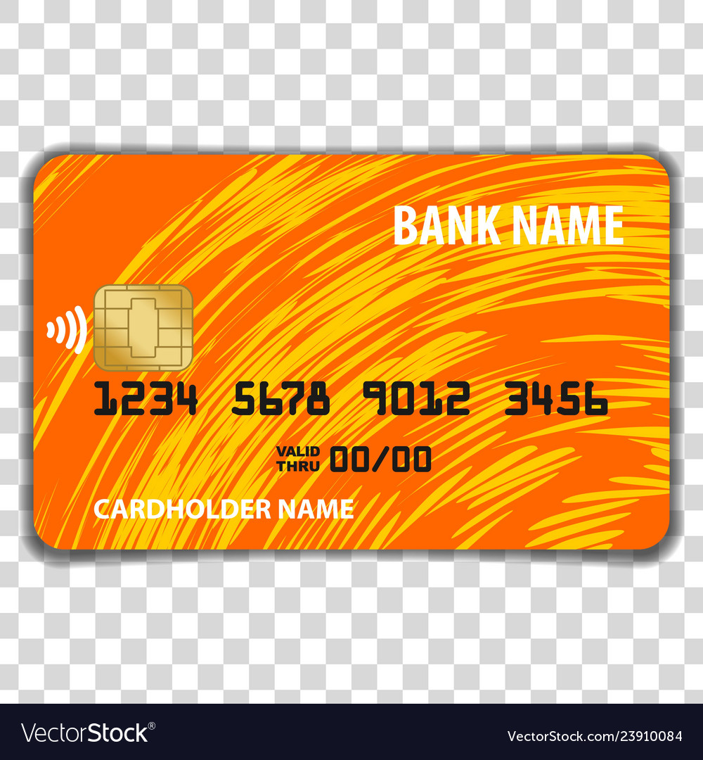 Contactless credit card mock up template